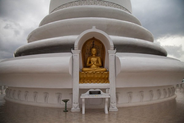 Japanese Peace Pagoda at Unawatuna, Sri Lanka.