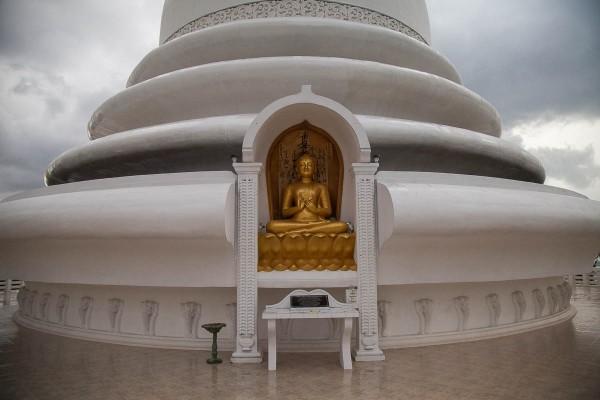 Japanese Peace Pagoda at Unawatuna, Sri Lanka.
