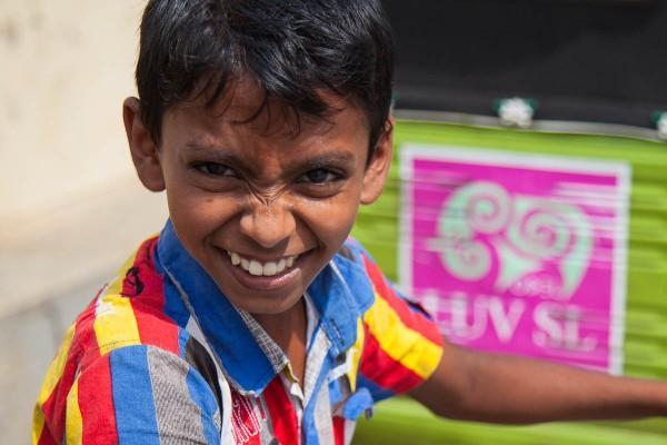 A portrait of a boy at Galle, Sri Lanka.
