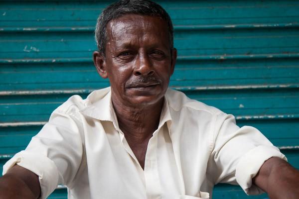 A portrait of a man at Galle, Sri Lanka.