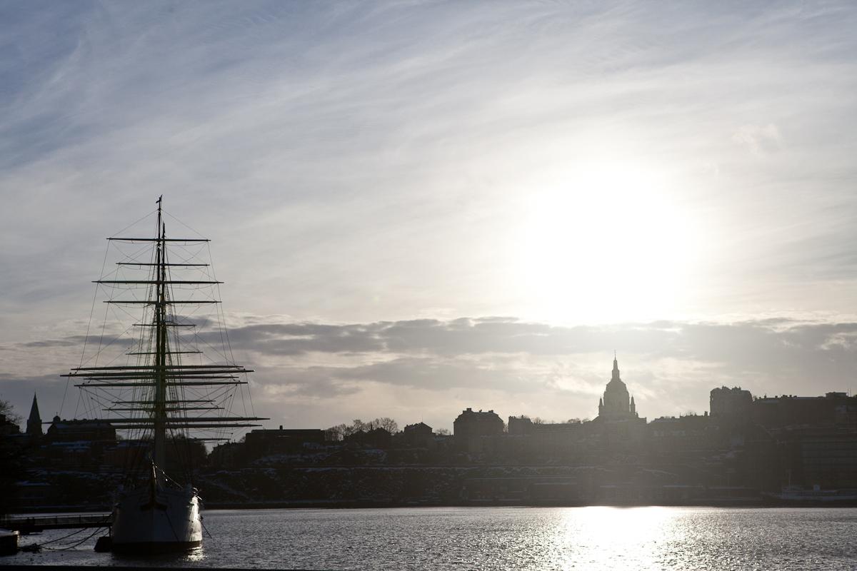 A boat at Stockholm, Sweden.