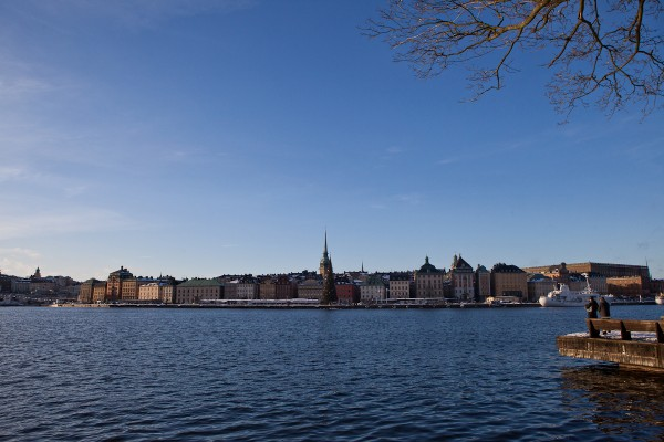 Winter in Stockholm, Sweden.