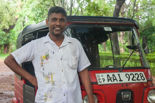A tuk-tuk driver in Sri Lanka.