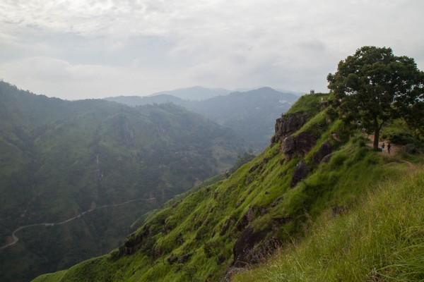 Landscape view near Ella, Sri Lanka.