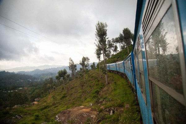 A train ride from Ella in Sri Lanka.