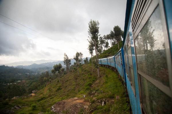 A train ride from Ella in Sri Lanka.