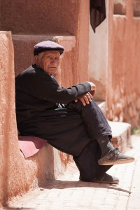 A man in an old village of Abyaneh, just outside Kashan.