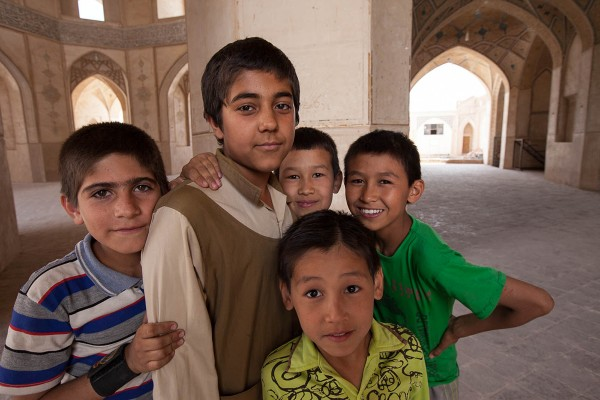 Kids playing on the streets of Yazd, Iran.