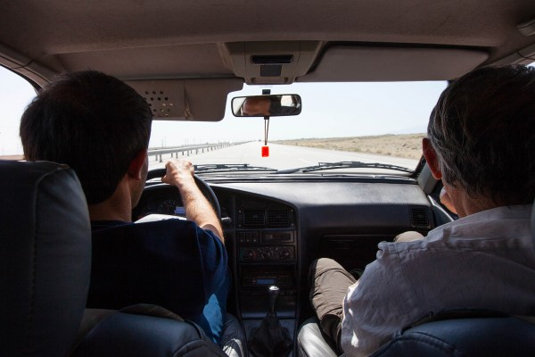 A taxi driver in Iran