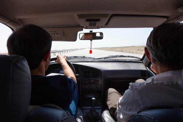 A taxi driver in Iran