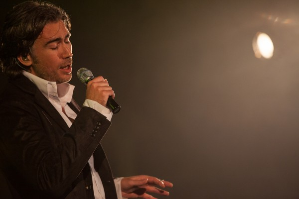 Popular slovenian singer Jan Plestenjak at his concert in Celje