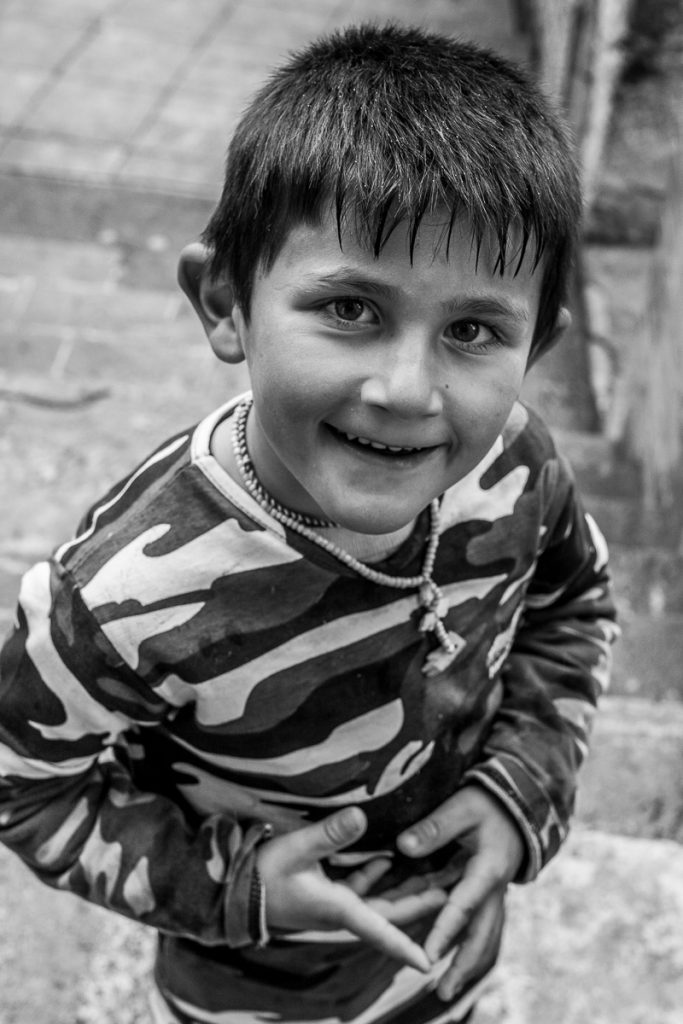 A boy at Lalish, Iraqi Kurdistan