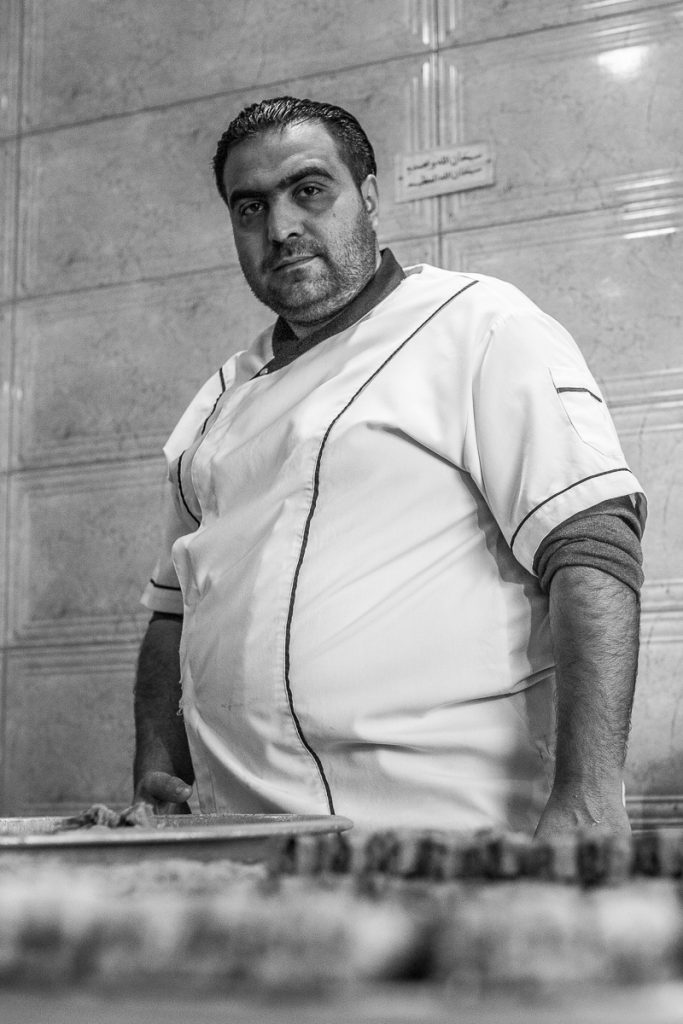 A confectioner at the Bazaar in Erbil / Hewler, Iraq