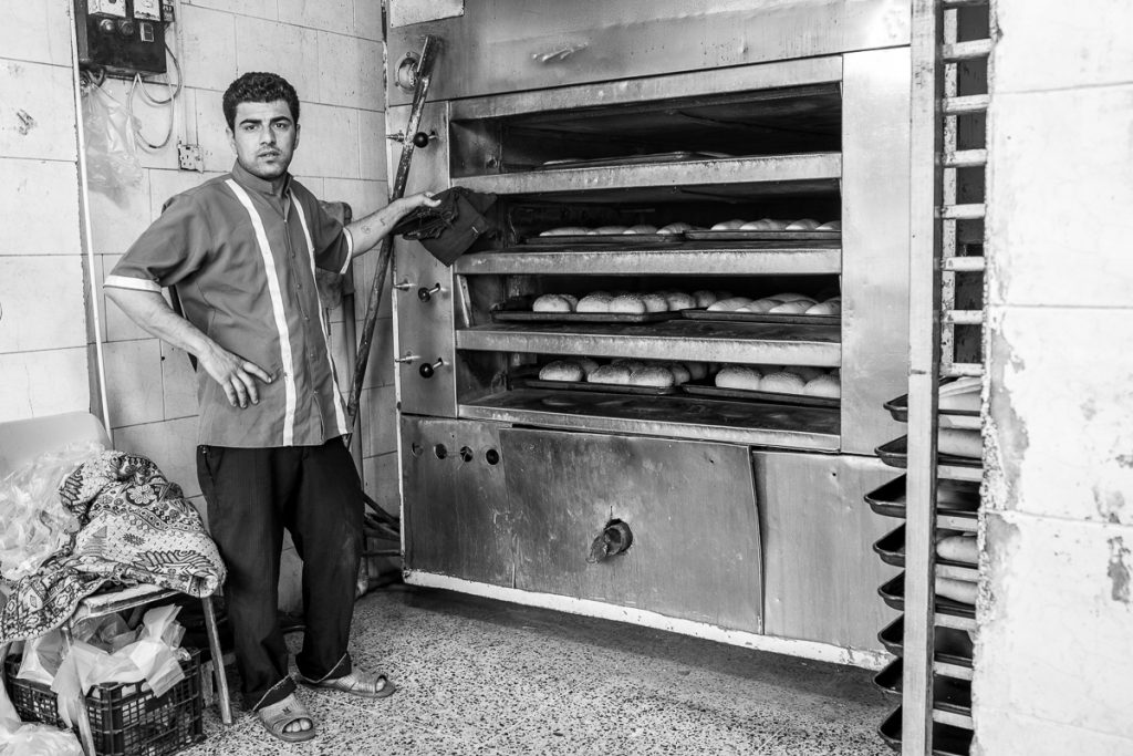 A baker at a random bakery in Duhuk / Dohuk, Iraqi Kurdistan