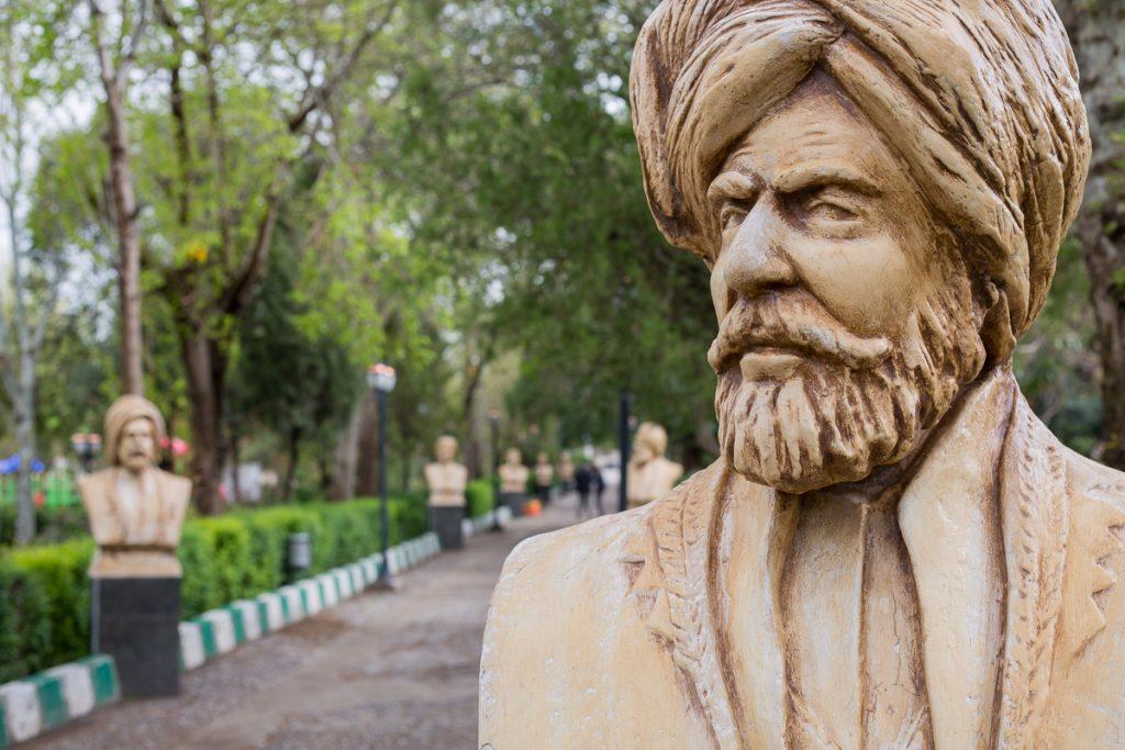 A statue at a park in Sulaymaniyah, Iraqi Kurdistan