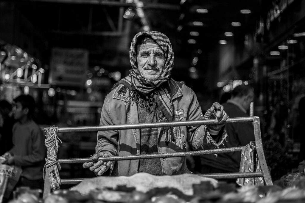 A seller at the Bazaar in Erbil / Hewler, Iraqi Kurdistan