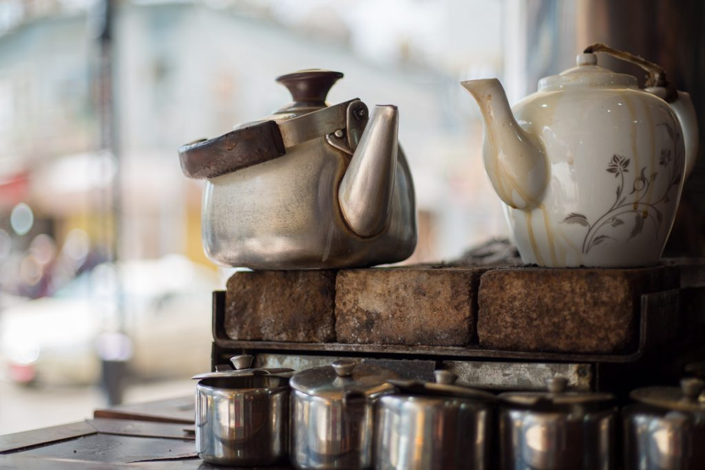 Couple of tea pots the Bazaar in Sulaymaniyah, Iraq