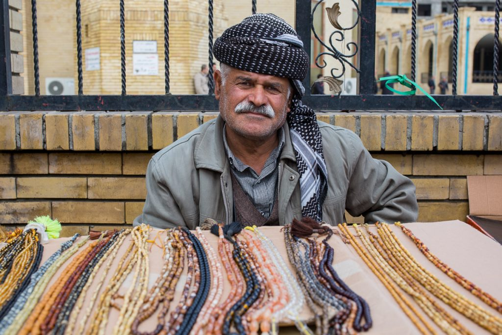 An older man in Sulaymaniyah, Iraq