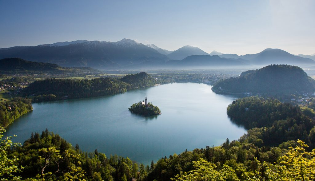 View of Lake Bled from Velika Osojnica