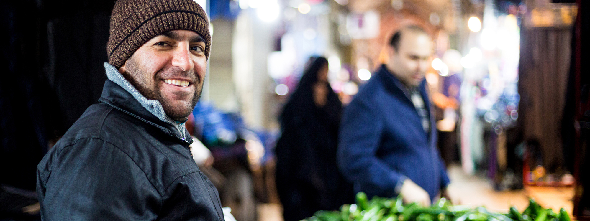 A man at a market in Dohuk, Iraq.