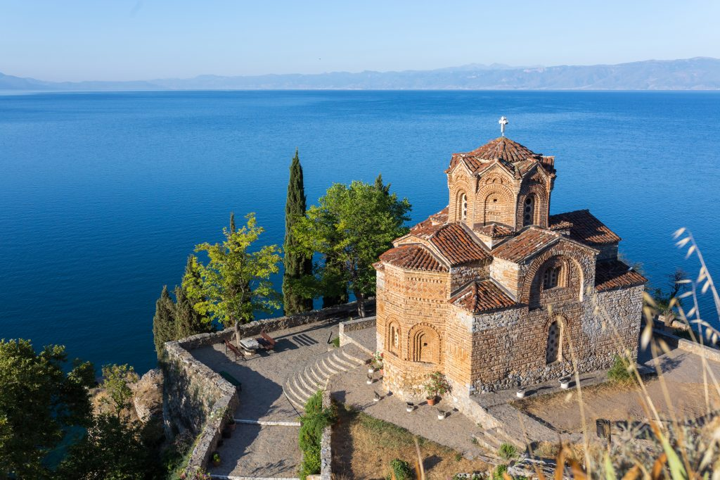 The Church of St. John at Kaneo in Ohrid / Macedonia.