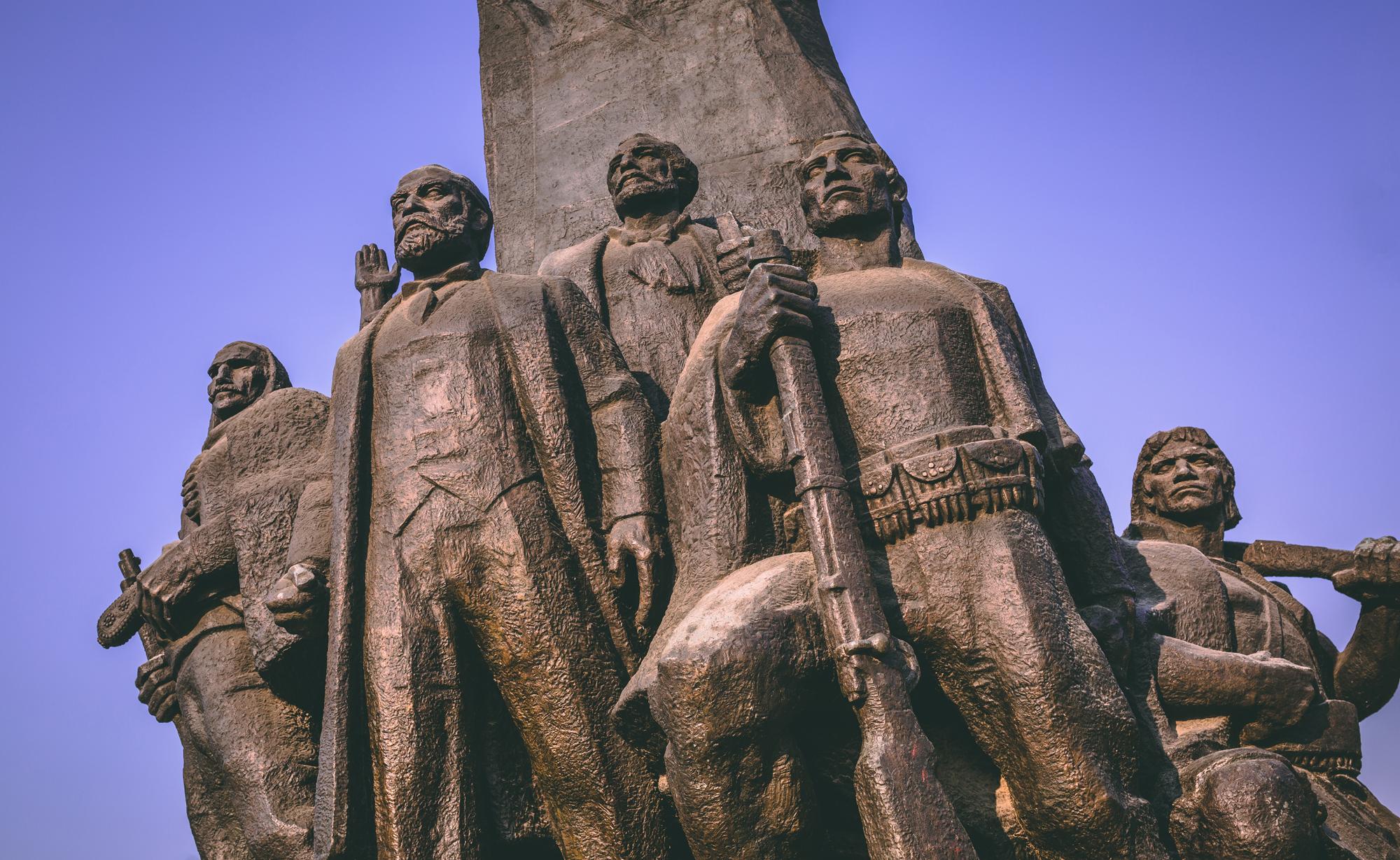 A statue in Tirana, Albania.