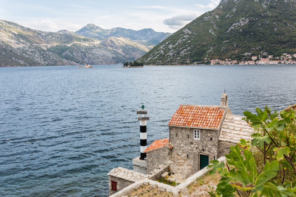 A church at Bay of Kotor at Montenegro.
