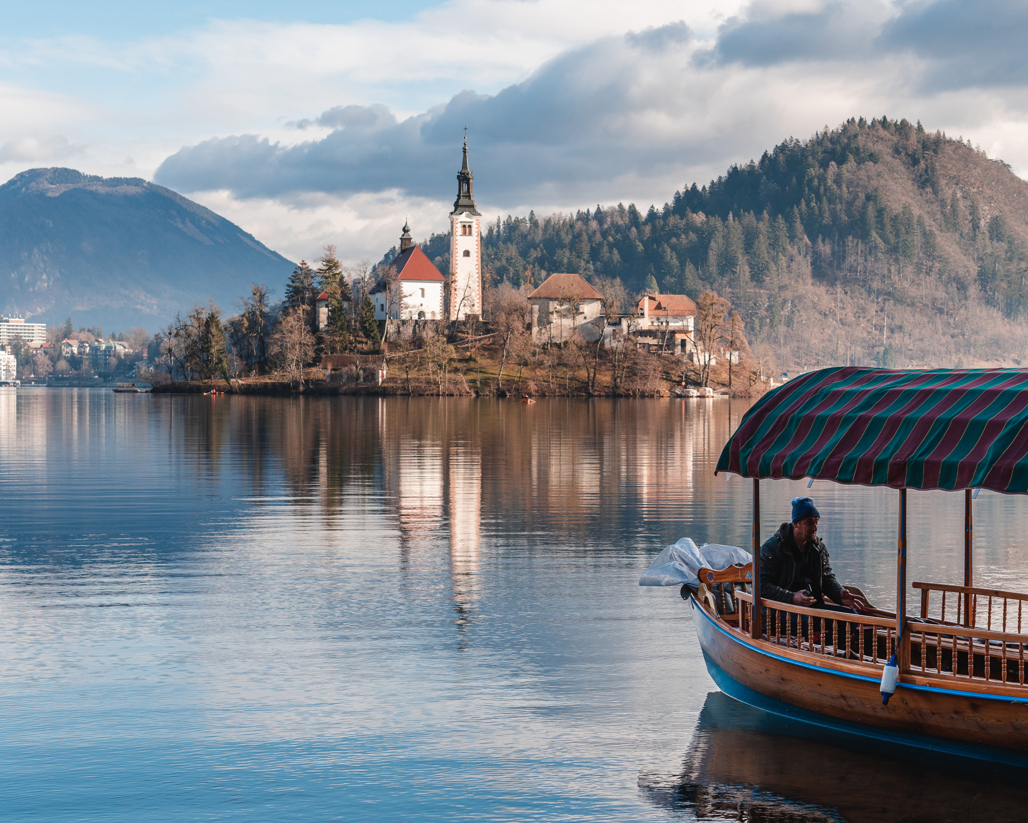 Assumption of Mary Pilgrimage Church on Lake Bled Island with Pl