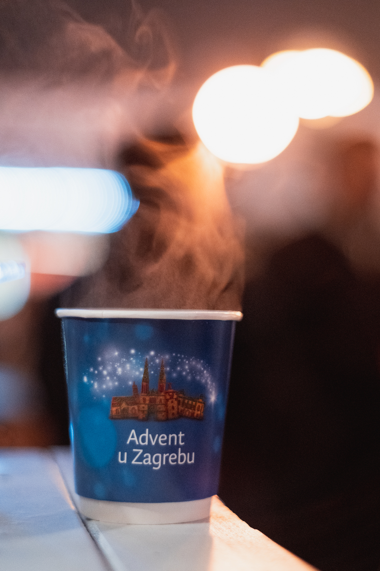 Mulled wine at the Zagreb Christmas market, Croatia